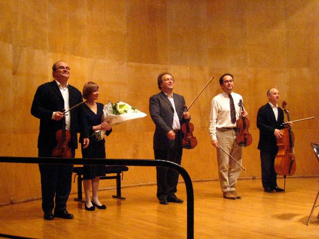 Isabelle Fraisse et le Quatuor Ysaye